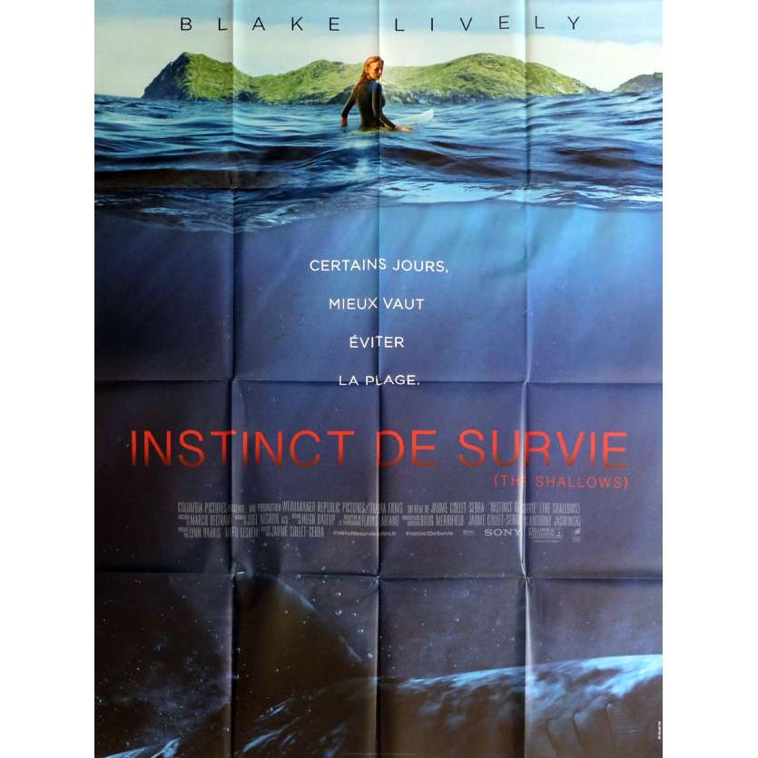 THE SHALLOWS Movie Poster 47x63 in. - 2016 - Jaume Collet-Serra, Blake Lively