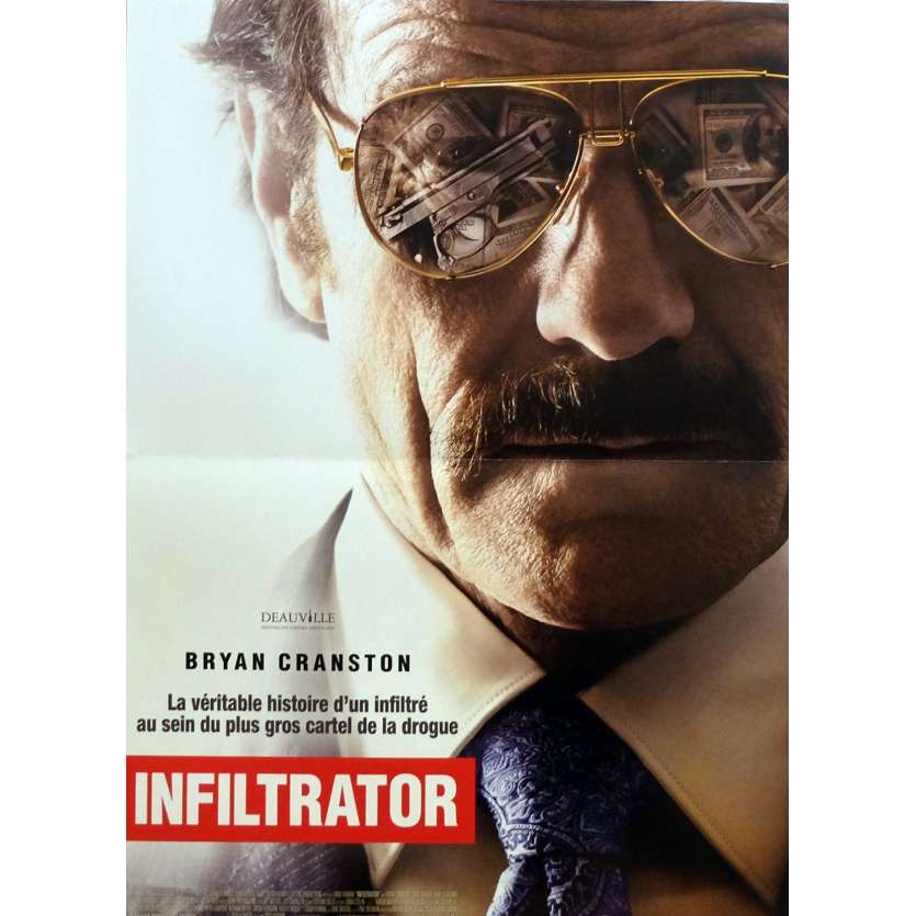 THE INFILTRATOR Movie Poster 15x21 in. - 2016 - Brad Furman, Bryan Cranston