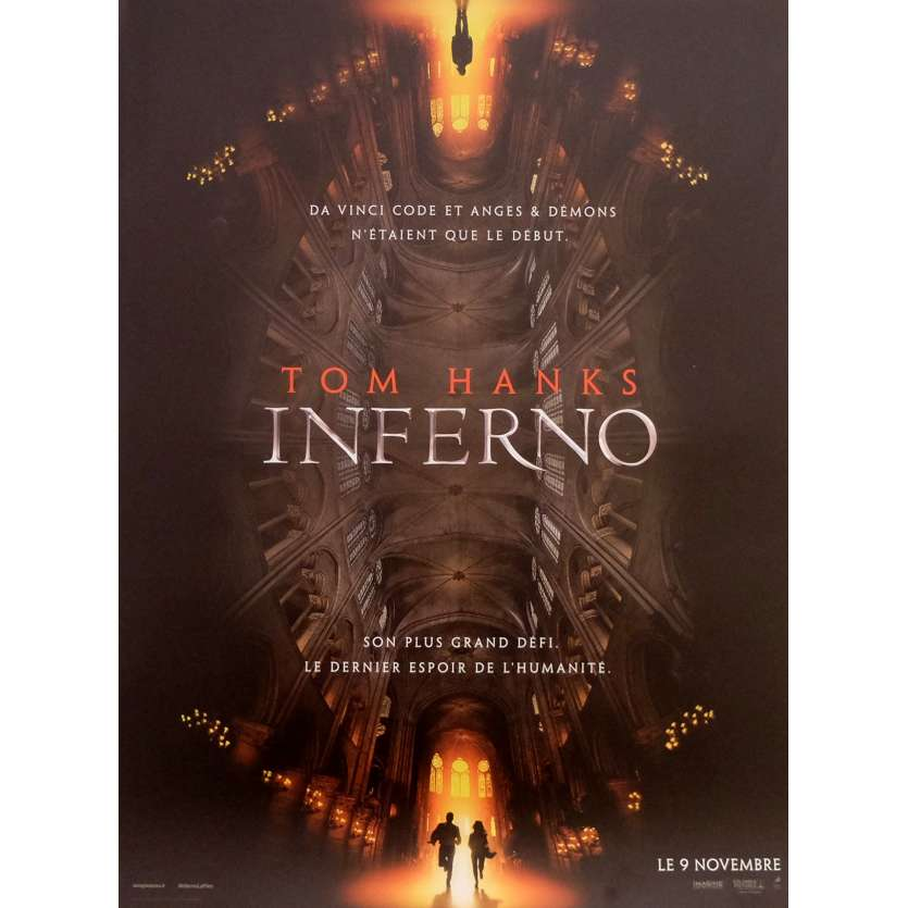 INFERNO Affiche de film 40x60 cm - 2016 - Tom Hanks