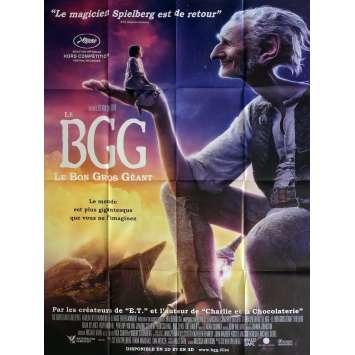 BGG LE BON GROS GEANT Affiche de film 120x160 cm - 2016 - Mark Rylance, Steven Spielberg