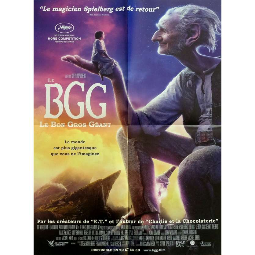 THE BFG Movie Poster 15x21 in. - 2016 - Steven Spielberg, Mark Rylance