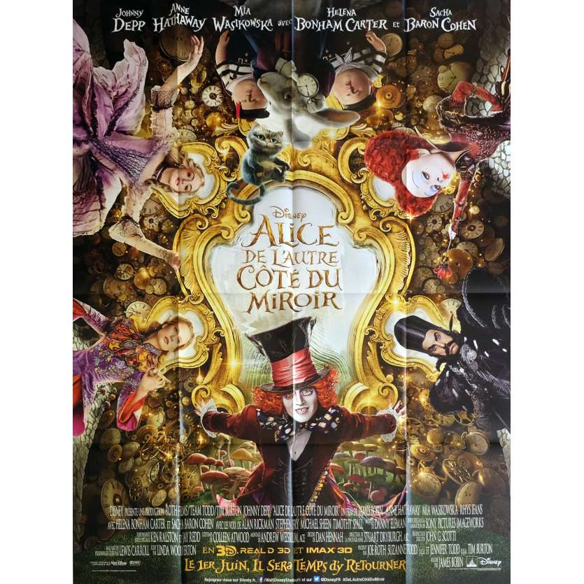 ALICE THROUGH THE LOOKING GLASS Movie Poster 47x63 in. - 2016 - James Bobin, Johnny Depp