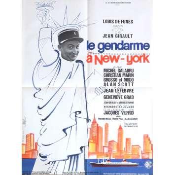 THE TROOPS IN NEW-YORK Movie Poster 23x32 in. - 1972 - Jean Girault, Louis de Funès