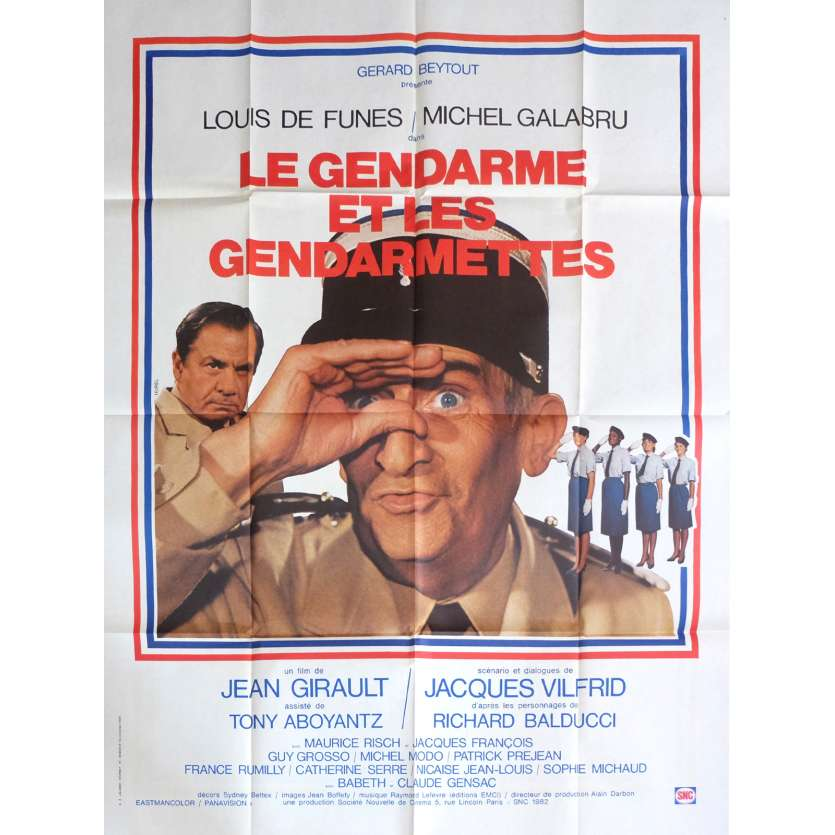 THE TROOPS AND THE TROOP-ETTES Movie Poster 47x63 in. - 1982 - Jean Girault, Louis de Funès