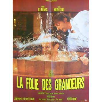 DELUSIONS OF GRANDEUR French Movie Poster 23x31 '71 Louis de Funes C9