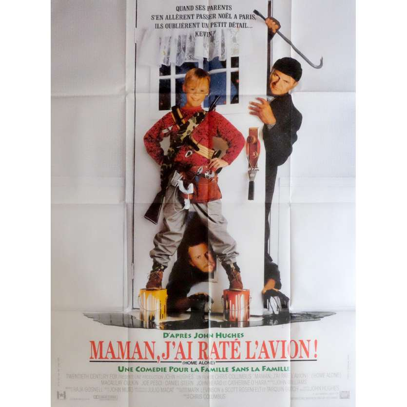 MAMAN J'AI RATE L'AVION Affiche de film 120x160 cm - 1990 - Macaulay Culkin, Chris Colombus