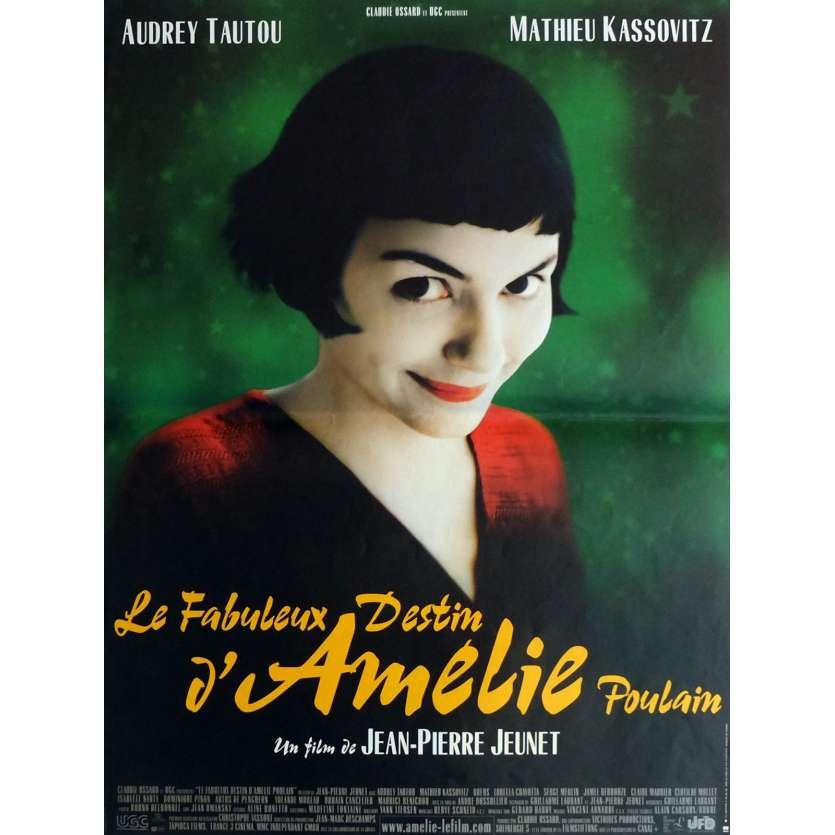 AMELIE Movie Poster 15x21 in. - 2001 - Jean-Pierre Jeunet, Audrey Tautou