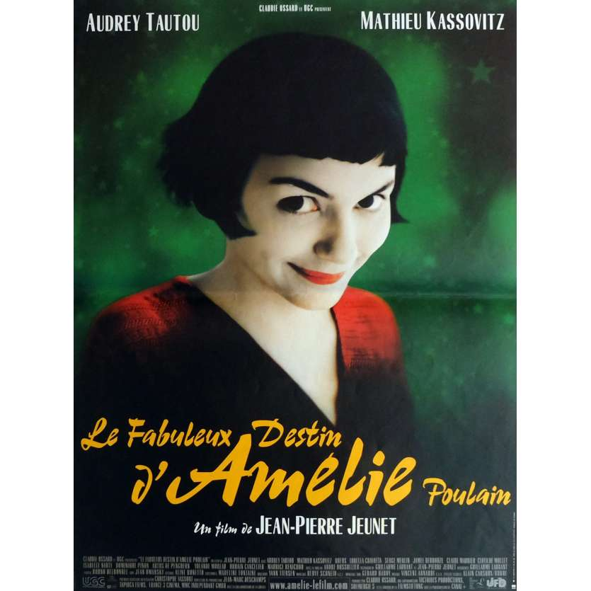 AMELIE POULAIN Affiche de film 40x60 cm - 2001 - Audrey Tautou, Jean-Pierre Jeunet
