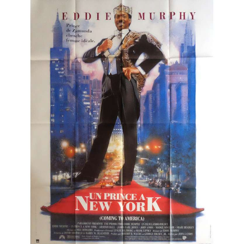 COMMING TO AMERICA Movie Poster 47x63 in. - 1988 - John Landis, Eddie Murphy
