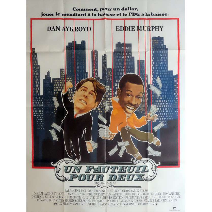 TRADING PLACES Movie Poster 47x63 in. - 1983 - John Landis, Eddie Murphy