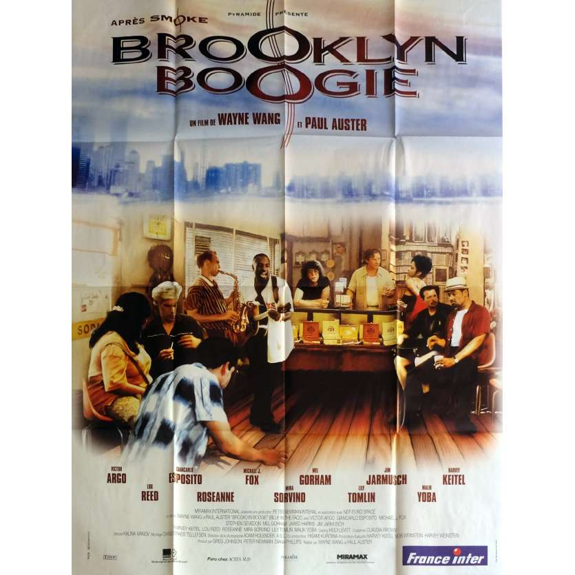 BROOKLYN BOOGIE Movie Poster 47x63 in. - 1995 - Paul Auster, Michael J. Fox