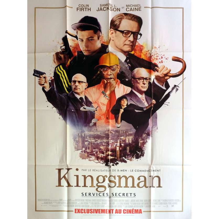 KINGSMAN SERVICES SECRETS Affiche de film 120x160 cm - 2014 - Colin Firth, Matthew Vaughn