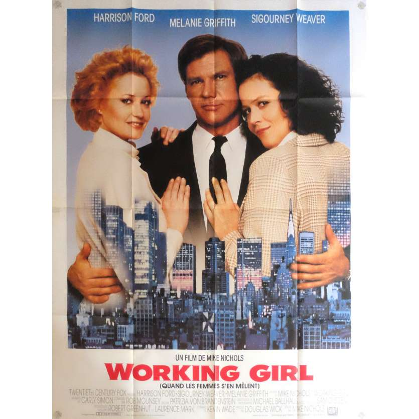 WORKING GIRL Movie Poster 47x63 in. - 1984 - Mike Nichols, Harrison Ford