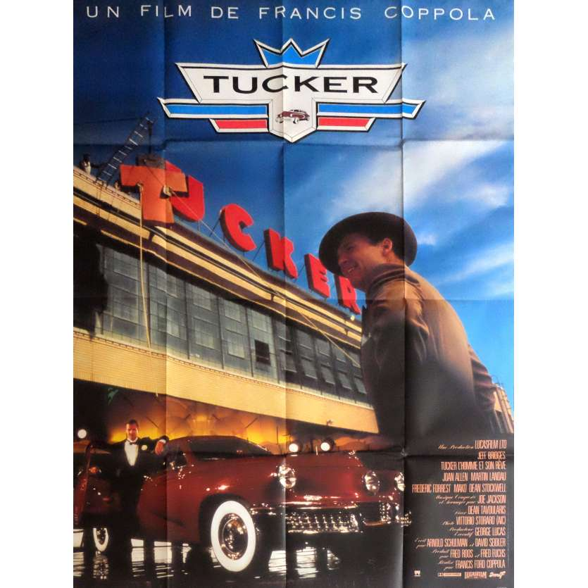 TUCKER Affiche de film 120x160 cm - 1988 - Jeff Bridges, Francis Ford Coppola
