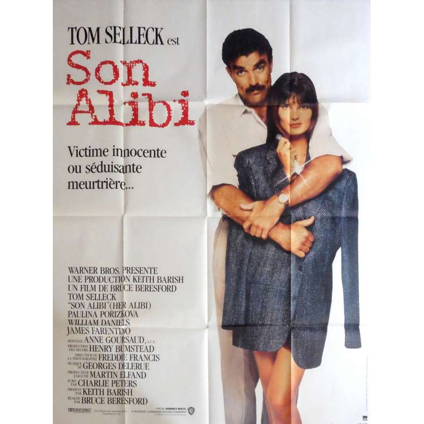 HER ALIBI Movie Poster 47x63 in. - 1989 - Bruce Beresford, Tom Selleck