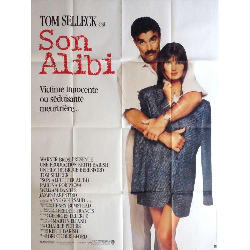 SON ALIBI Affiche de film 120x160 cm - 1989 - Tom Selleck, Bruce Beresford
