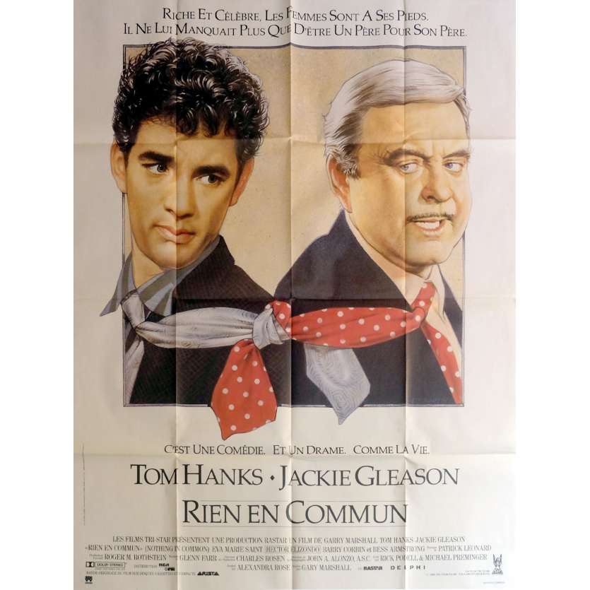 RIEN EN COMMUN Affiche de film 120x160 cm - 1986 - Tom Hanks, Gary Marshall
