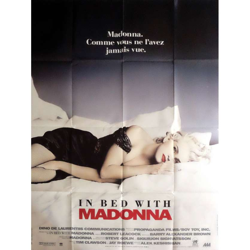 IN BED WITH WITH MADONNA Movie Poster 47x63 in. - 1991 - Alek Keshishian, Madonna