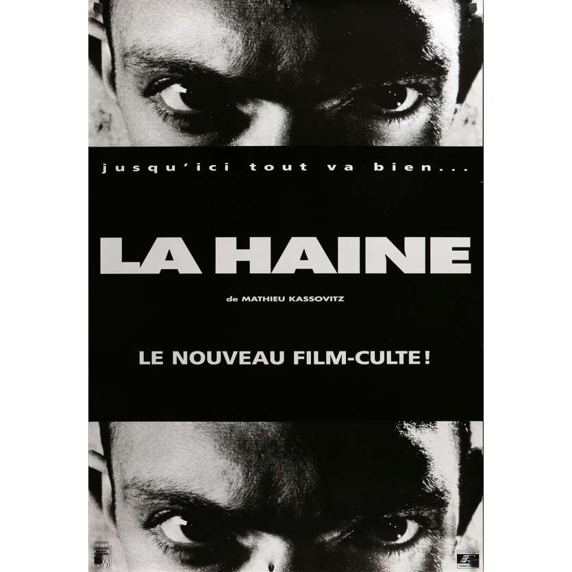 HATE Movie Poster Adv. 29x40 in. - 1995 - Mathieu Kassovitz, Vincent Cassel