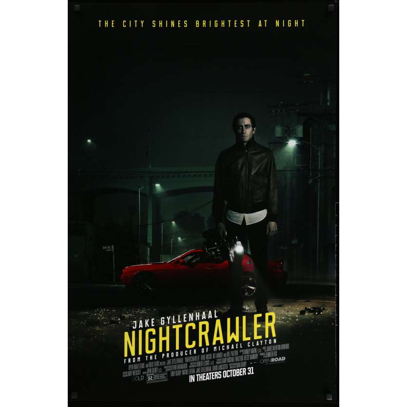 NIGHTCRAWLER Movie Poster Adv. DS 29x41 in. - 2014 - Dan Gilroy, Jake Gyllenhaal