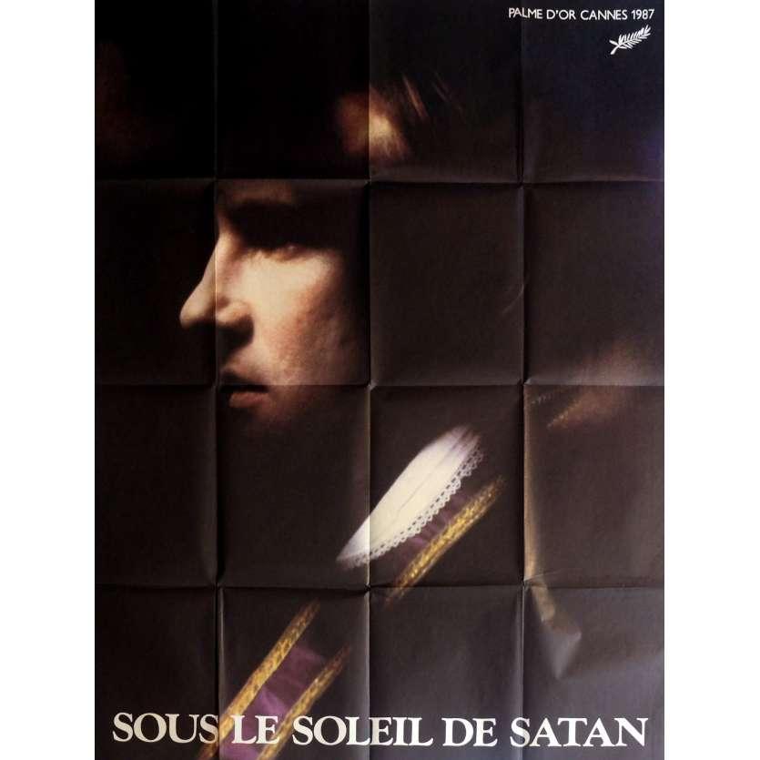 SOUS LE SOLEIL DE SATAN Affiche de film 120x160 cm - 1987 - Gérard Depardieu, Maurice Pialat
