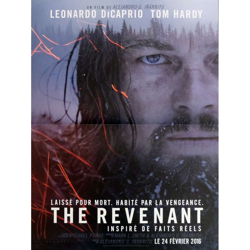 THE REVENANT Movie Poster 15x21 in. - 2016 - Alejandro González Iñárritu, Leonardo DiCaprio