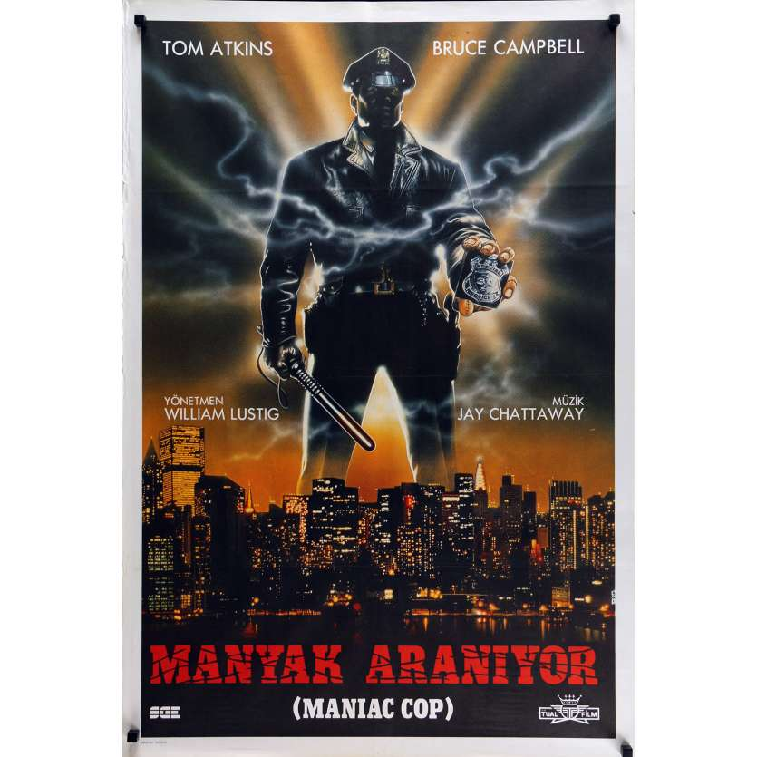 MANIAC COP Affiche de film 70x100 cm - 1988 - Bruce Campbell, William Lustig
