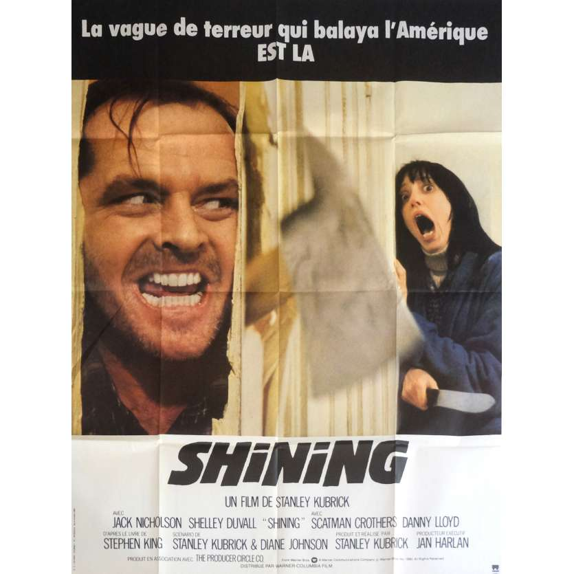 SHINING Affiche de film 120x160 cm - 1980 - Jack Nicholson, Stanley Kubrick