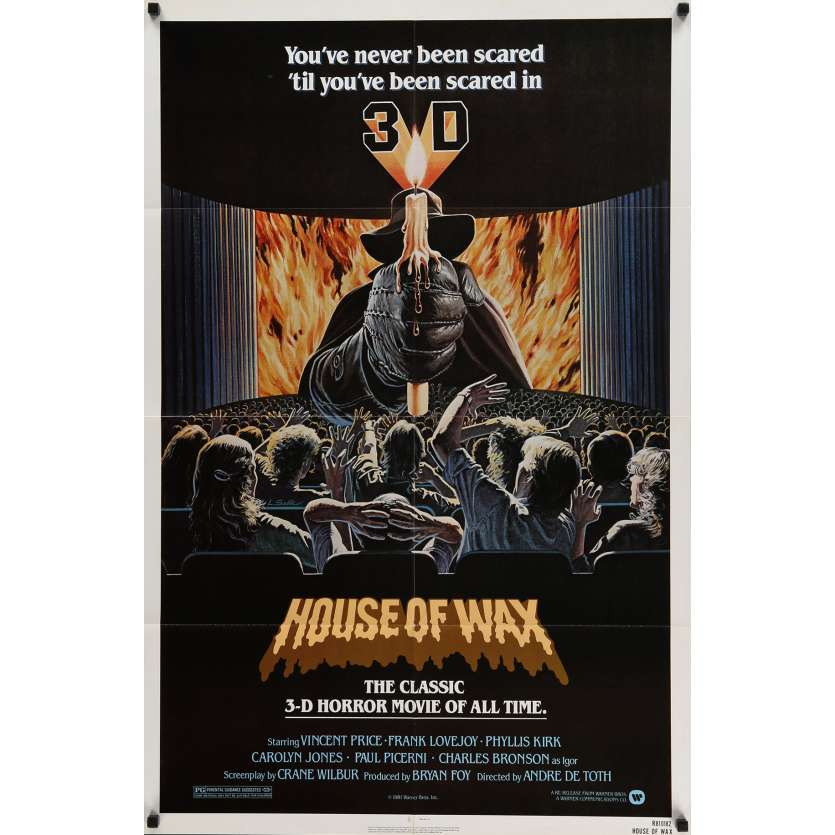 HOUSE OF WAX Movie Poster 29x40 in. - 1981 - André de Toth, Vincent Price