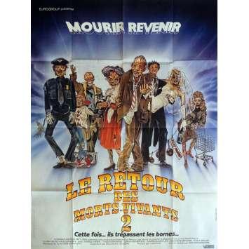 THE RETURN OF LIVING DEAD PART II Movie Poster 47x63 in. - 1988 - Ken Wiederhorn, James Karen