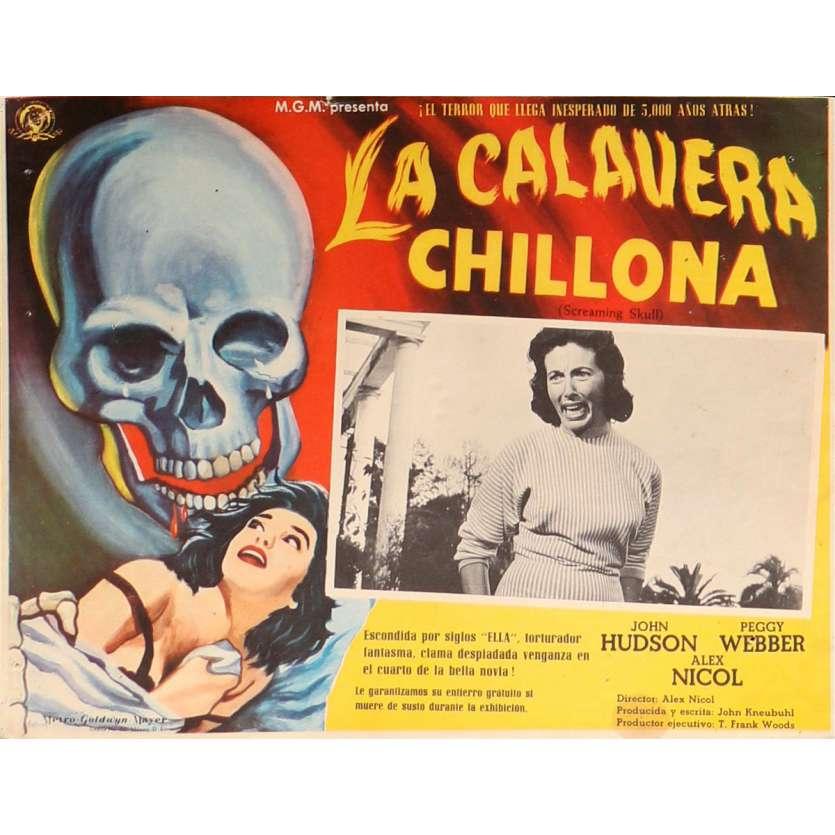 THE SCREAMING SKULL Lobby Card 13x16,5 in. - 1958 - Alex Nicol, John Hudson