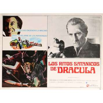 THE SATANIC RITES OF DRACULA Lobby Card N2 13x16,5 in. - 1973 - Alan Gibson, Christopher Lee