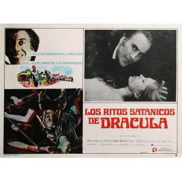 THE SATANIC RITES OF DRACULA Lobby Card N1 13x16,5 in. - 1973 - Alan Gibson, Christopher Lee