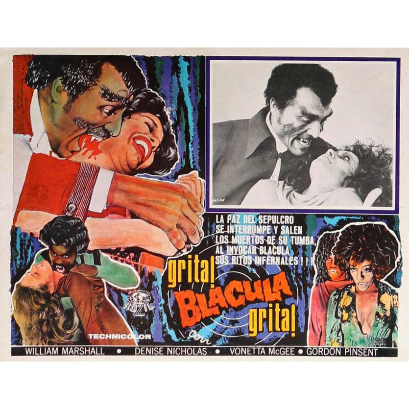 BLACULA Lobby Card N2 13x16,5 in. - 1972 - William Crain, William Marshall