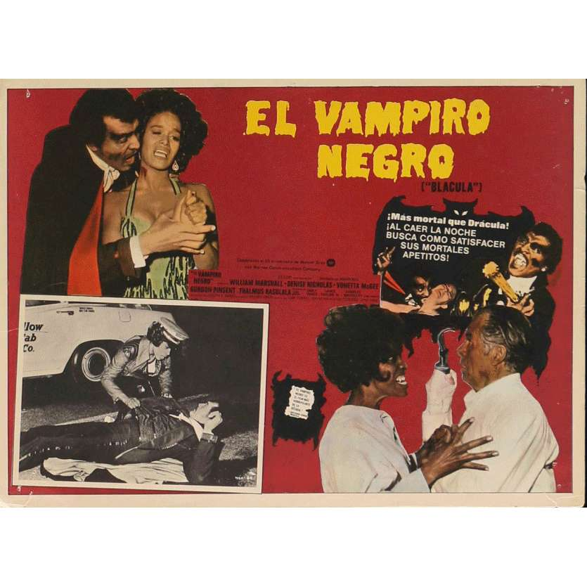 BLACULA Lobby Card N1 13x16,5 in. - 1972 - William Crain, William Marshall