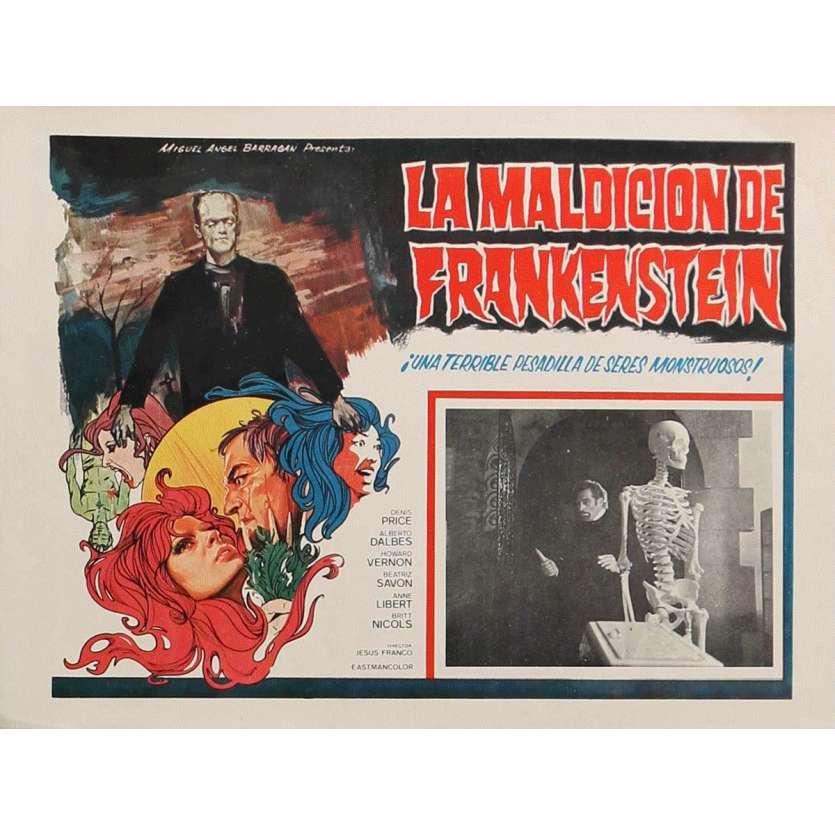 THE RITES OF FRANKENSTEIN Lobby Card 13x16,5 in. - 1973 - Jesus Franco, Alberto Dalbes