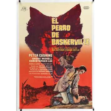 LE CHIEN DES BASKERVILLES Affiche entoilée 70x100 - 1960 - Peter Cushing, Terence Fisher