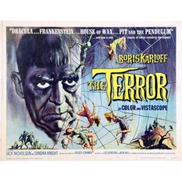 THE TERROR Movie poster - Boris Karloff