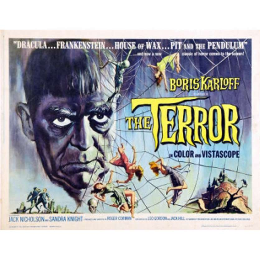THE TERROR Movie poster - Boris Karloff