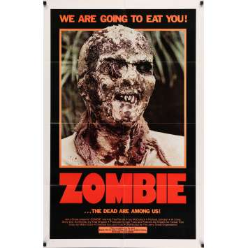 L'ENFER DES ZOMBIES Affiche Originale US '79 Lucio Fulci, Zombi 2, living dead