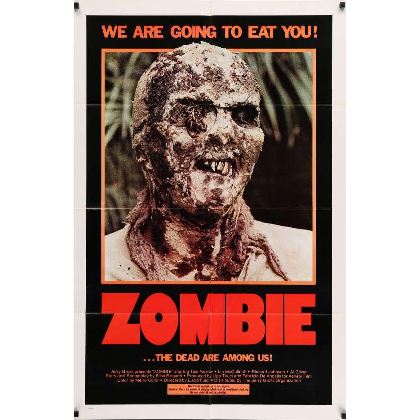 ZOMBIE Original Movie poster 1sh '81 Zombi 2, Lucio Fulci classic, living dead