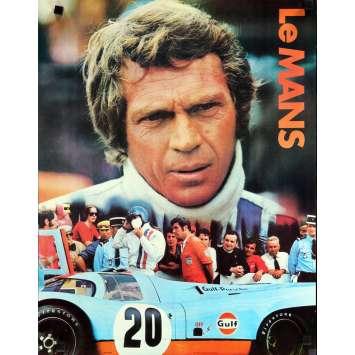 LE MANS Affiche de film Promo Gulf 43x56 - 1971 - Steve McQueen, Lee H. Katzin