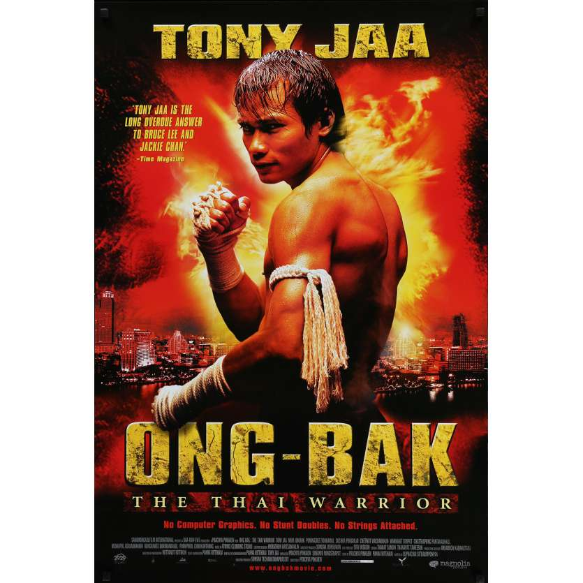 ONG BAK Movie Poster 29x41 in. - 2003 - Prachya Pinkaew, Tony Jaa