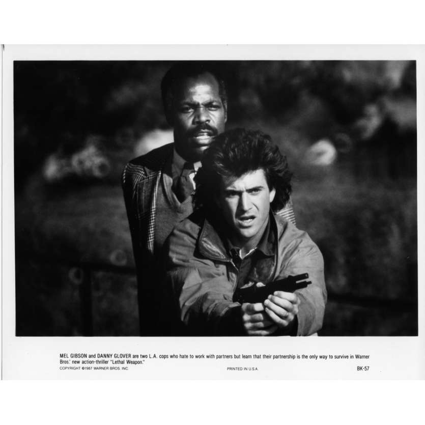 LETHAL WEAPON Movie Still N02 8x10 in. - 1987 - Richard Donner, Mel Gibson