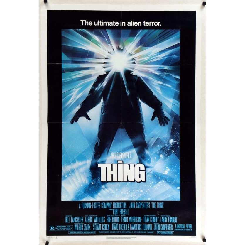THING 1sh '82 John Carpenter, cool sci-fi horror art, the ultimate in alien terror!