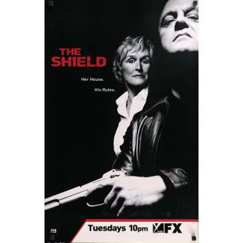 THE SHIELD Affiche TV 53x84 cm - 2005 - Michael Chiklis, Glen Close, Shawn Ryan