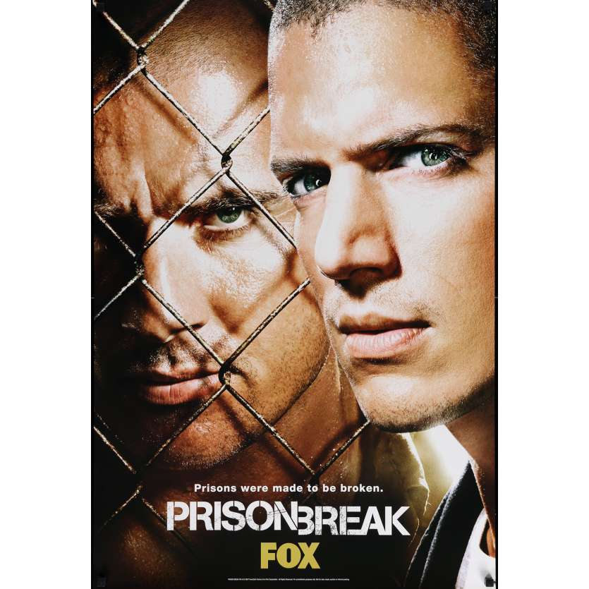 PRISON BREAK TV Poster 29x40 in. - 2007 - Paul Scheuring, Dominic Purcell