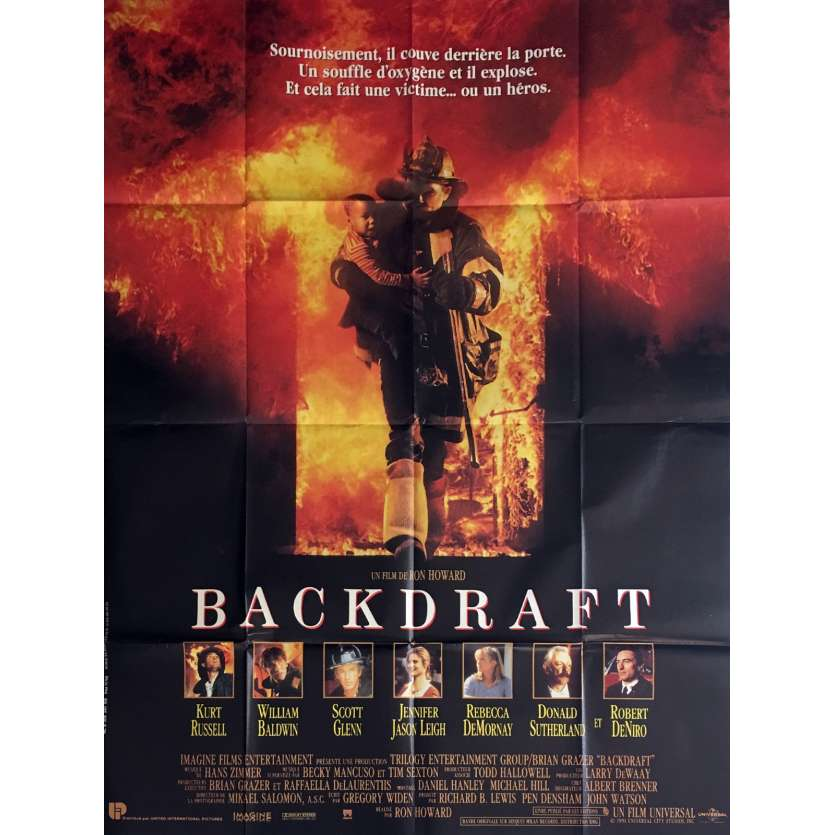 BACKDRAFT Movie Poster 47x63 in. - 1991 - Ron Howard, Kurt Russel