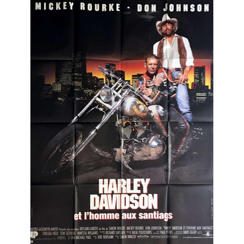 HARLEY DAVIDSON Affiche de film 120x160 cm - 1991 - Mickey Rourke, Simon Wincer