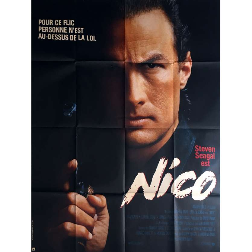 NICO Movie Poster 47x63 in. - 1988 - Andrew Davis, Steven Seagal